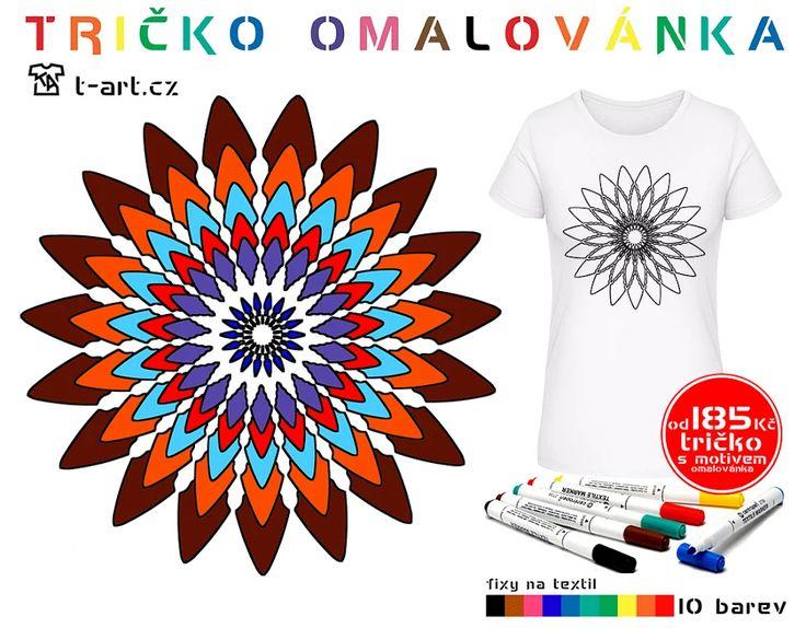 Fotka: tričko omalovánka trička s originálním vlastním motivem http://www.t-art.cz