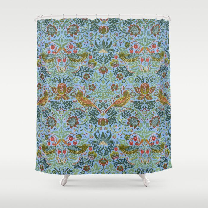 Buy William Morris Strawberry Thief 9 Shower Curtain By