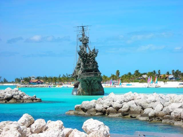 Disney's #CastawayCay. Pirates of The Caribbean Replica Ship. #TheBahamas #travel