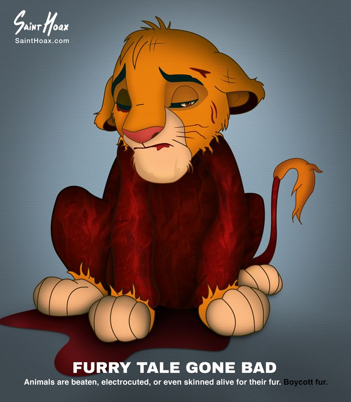 A Furry Tale Gone Bad - Disney Animals Against the Fur Industry - Design Mash