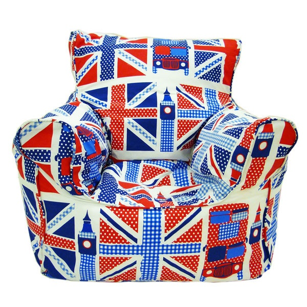 Kids Union Jack Bean Chair