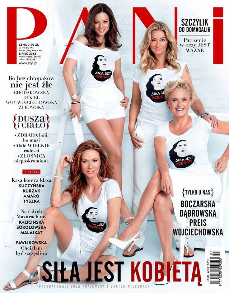 Kinga Preis, Magdalena Boczarska, Martyna Wojciechowska, Katarzyna Dabrowska - Pani Magazine Cover [Poland] (July 2013)