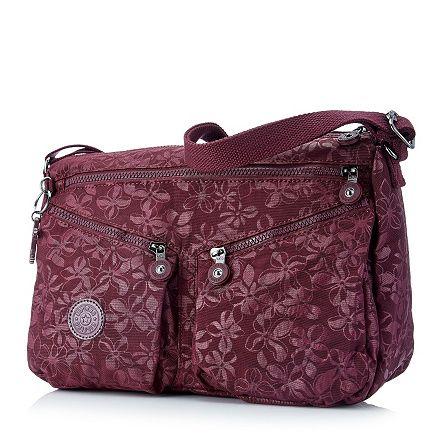 Kipling Chantra Medium Embossed Shoulder Bag with Crossbody Strap | QVCUK.com