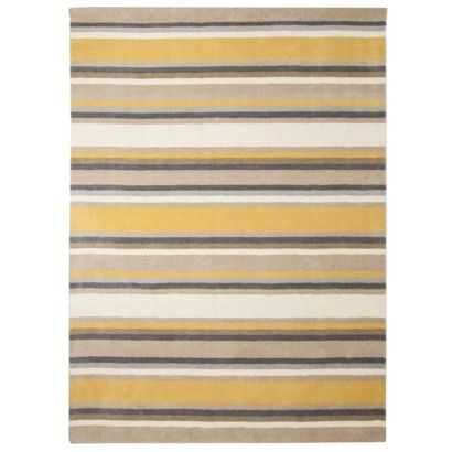 Threshold Stripe Area Rug Gray Yellow Want This Sooooo