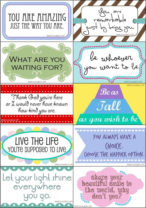 free printable inspirational drop cards | printables | Pinterest ...
