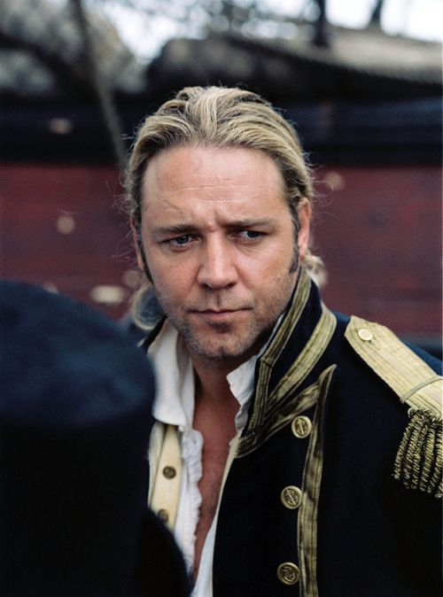 "Russell Crowe	as Capt. Jack Aubrey -""Master and Commander"""