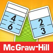 The Equivalent Fractions game by McGraw Hill offers a quick and easy way to practice and reinforce fraction concepts and relationships. Players try to match equivalent fractions on cards showing halves, thirds, fourths, fifths, sixths, eighths, tenths, and twelfths. When cards are matched, they disappear and points are awarded. As cards disappear from the array, the cards behind them become accessible. The game ends when all cards are matched or no more matches can be made.