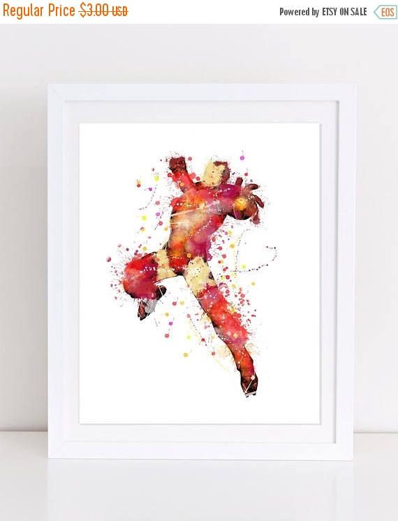 60%OFF Iron Man Watercolor Poster Avengers Watercolor Print