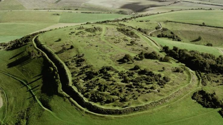 "A 5,000-year-old hill fort is being irreversibly damaged by the ""illicit use of metal detectors"", police say."