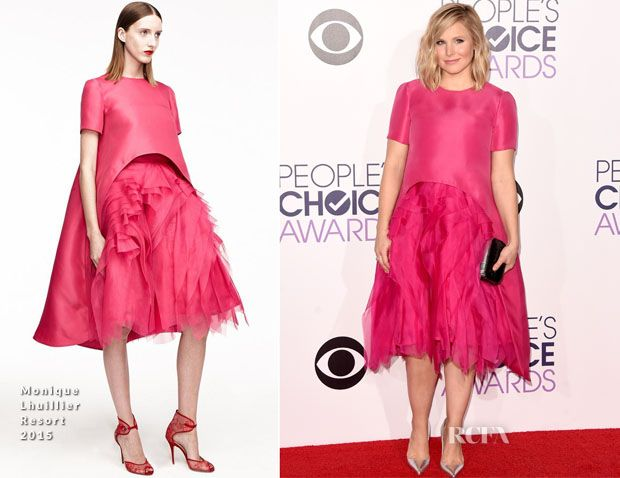 Kristen Bell In Monique Lhuillier – 2015 People's Choice Awards