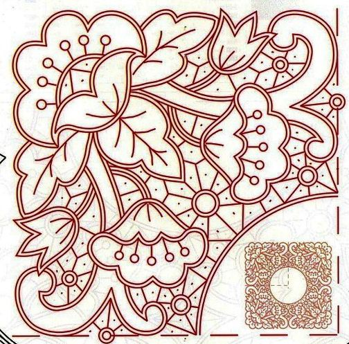 cutwork embroidery pattern