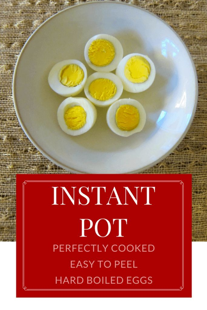 Instant Pot Hard Boiled Eggs: Perfectly cooked hard boiled eggs that are easy to peel, made in the Instant Pot!