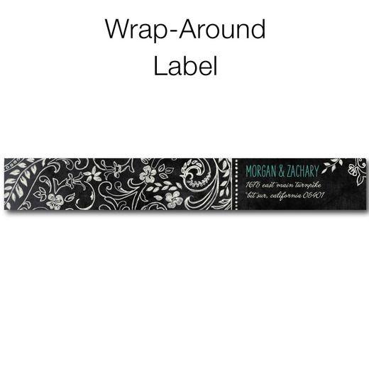 Chalk Celebration - Personalized Address Labels - Lady Jae - Bay - Green : Front