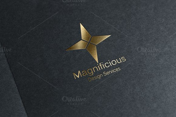 Magnificious - Star Logo Design by Conflutech Designs on Creative Market