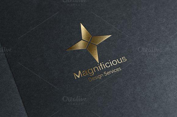 Magnificious - Star Logo Design by Conflutech Designs on Creative Market