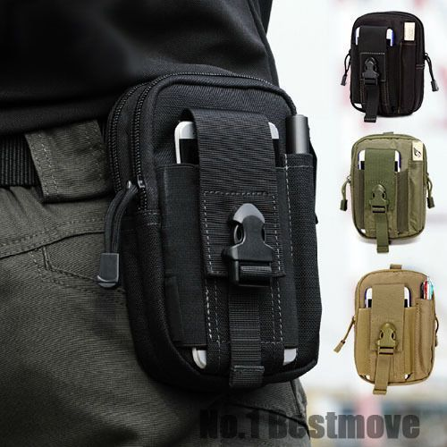 Outdoor Camping Hiking Pouch EDC Tactical Waist Fanny Pack Belt Bag Wallet Phone