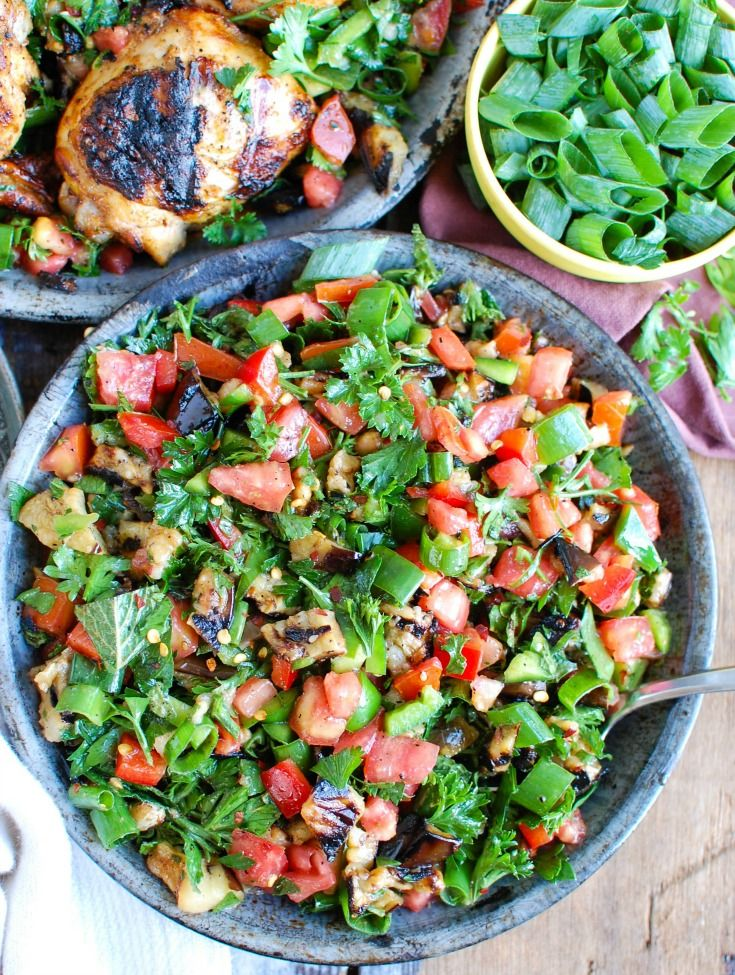 Mediterranean Eggplant Salad Recipe Eggplant Salad Mixed Grill Eggplant Recipes