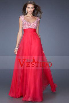 2016 Exquisito correas A / Princesa piso-longitud gasa vestidos de baile de…