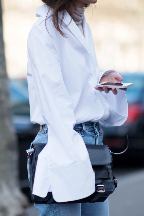 White shirt lusting #fashion #style #chic