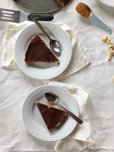 Paleo Chocolate Cheesecake with Peppermint Filling (dairy and egg free)