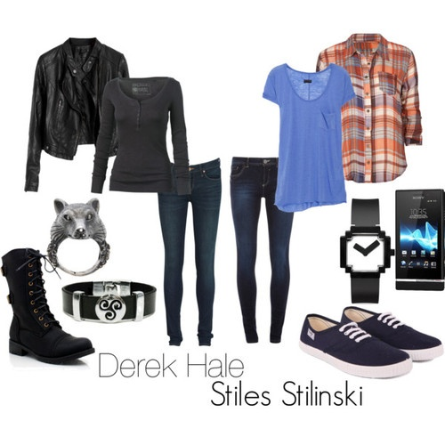 fictitiousfashion:    Stiles and Derek from Teen Wolf. I posted them like they were a couple, since I did one with Scott and Allison, even though they are not… well not yet.