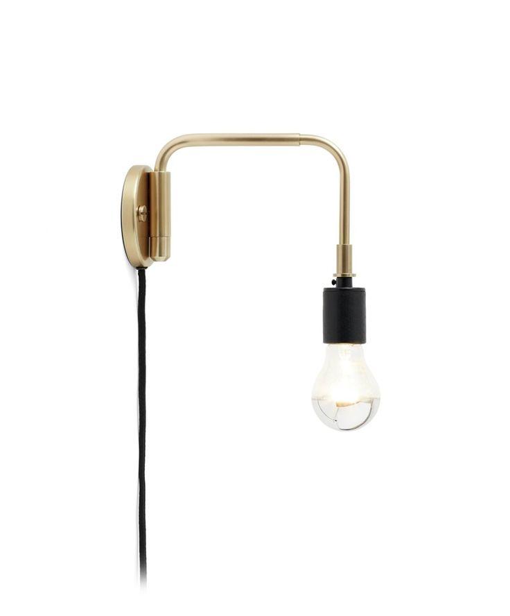 Staple Wall Lamp Brass