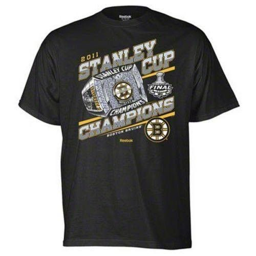 Boston Bruins 2011 NHL Stanley Cup Champions t-shirt Hockey Reebok New Champions