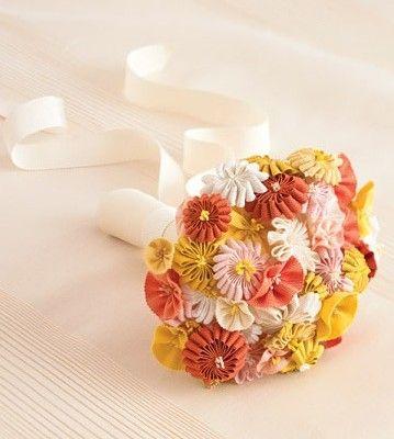 Non-Flower Bouquet Idea: Ribbon