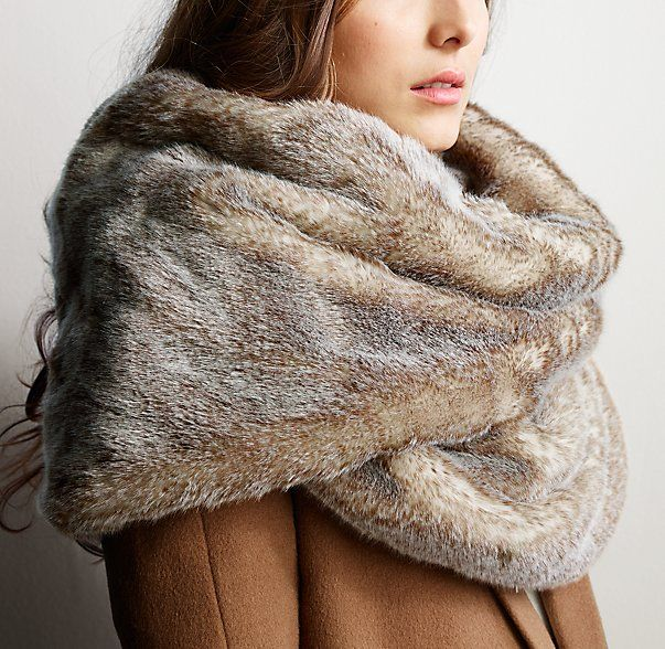 How warm does this look?  If we continue to have such brutal winters I think I need one of these.  Luxe Faux Fur Wrap
