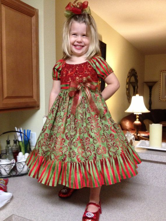 Hey, I found this really awesome Etsy listing at https://www.etsy.com/listing/199344800/little-girls-christmas-dress