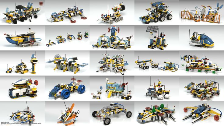 "Thumbnailed preview (please, open/click the link for 3200x1800 High Resolution image version) of 25 #bublible 's #Techtroners #LEGO #space #MOC ""Release Candidates"" expected to be published in 2017"