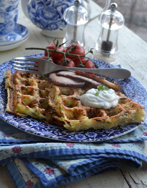more than burnt toast: Potato and Zucchini Latke Waffles for Slow ...