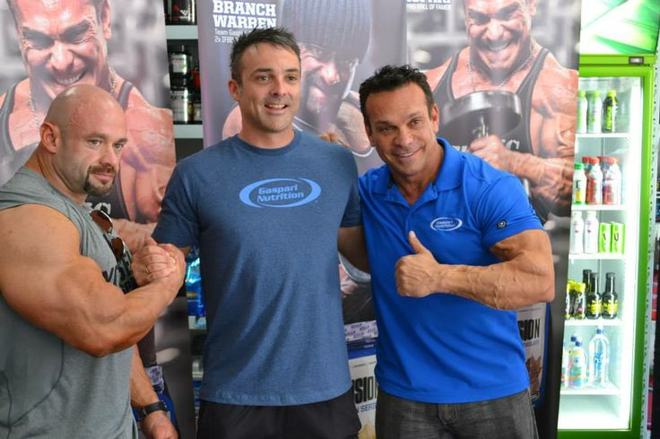 Rich Gaspari and Branch Warren with Supplements.co.nz owner Jason Dunhill.