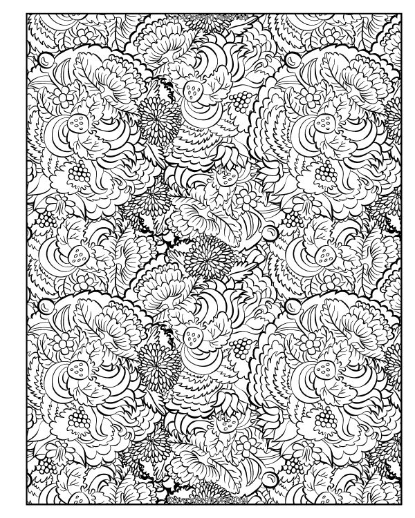 Diabolically Detailed Colouring Page Abstract Doodle Coloring Pages Adult Advanced Printable Kleuren Voor Volwassenen