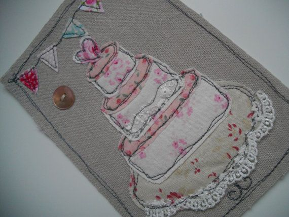 Wedding Cards, Stationary, Textile art, Handmade, Made to Order Weddind Card