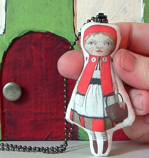 Little Red Riding Hood necklace by Cart Before The Horse $16
