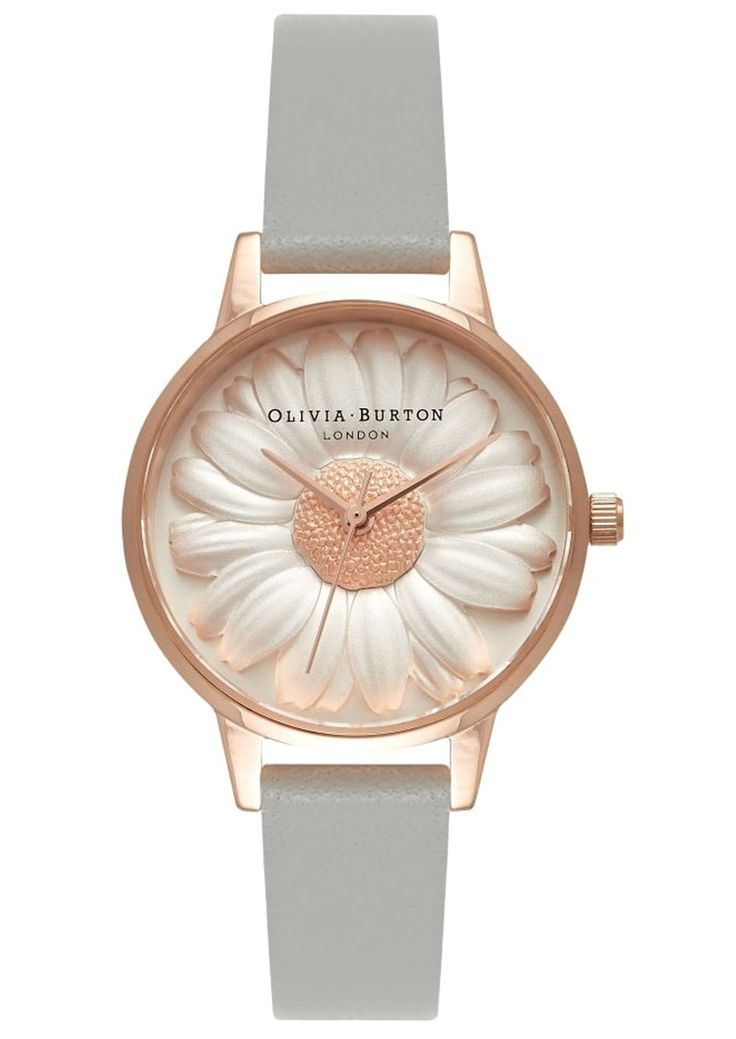 Shop the Olivia Burton Flower Show 3D Daisy Midi Watch - Grey & Rose Gold online at The Dressing Room. Get 10% OFF your first order + FREE UK delivery!