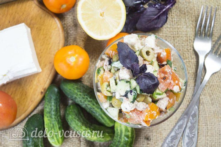 Овощной салат с тунцом #салаты #овощи #тунец #рецепты #деловкуса #готовимсделовкуса