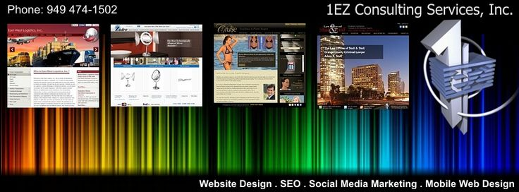 Orange County website design company specializing in web design, development, marketing, custom wordpress design, responsive web design in Orange County Ca. https://www.1ezconsulting.com/