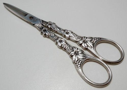 EL Silver Plate GRAPES Scissors Shears
