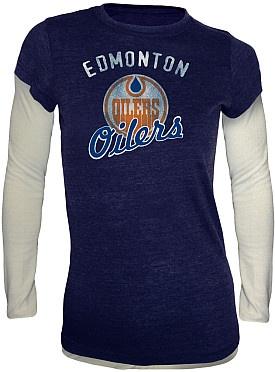 I want this!!! Edmonton Oilers Sadie Fooler Long Sleeve Shirt
