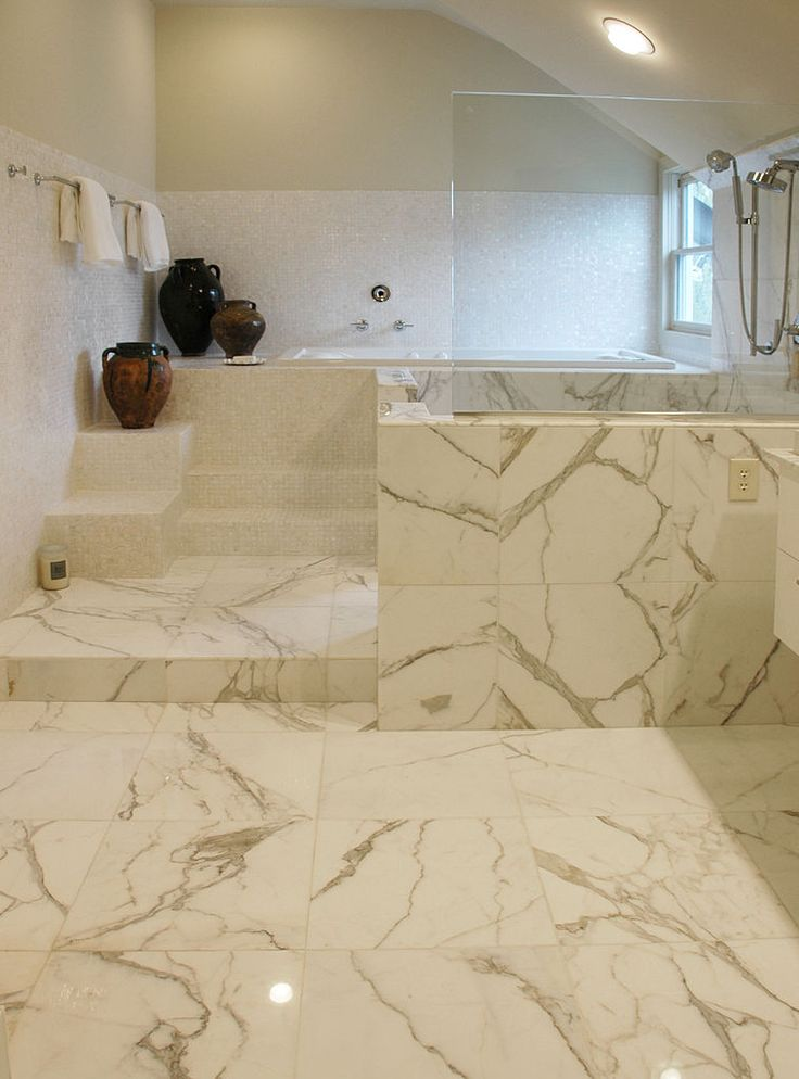 carrara marble tile bathroom photos | Move over Carrara Calacatta has  arrived at the top of