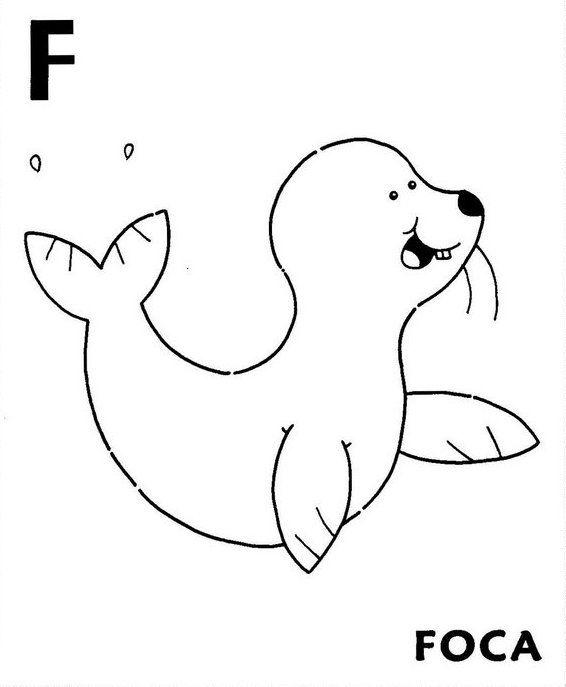 Fichas De Abecedario Para Aprender Y Colorear Animales Animados Para Colorear Animales Salvajes Para Colorear Dibujos