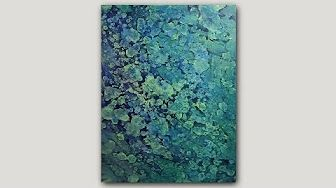 Abstract Acrylic Dirty Pour Fluid Painting With Cells: Ice Storm - YouTube