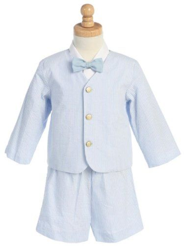 Made in USA-Lito Eton Seersucker Suit w/Jacket, Shorts, Shirt, Bowtie-White w/Blue Stripes Large (12-18M) Lito,http://www.amazon.com/dp/B007PKF6S4/ref=cm_sw_r_pi_dp_jZLjtb1R7BT9ZE5W