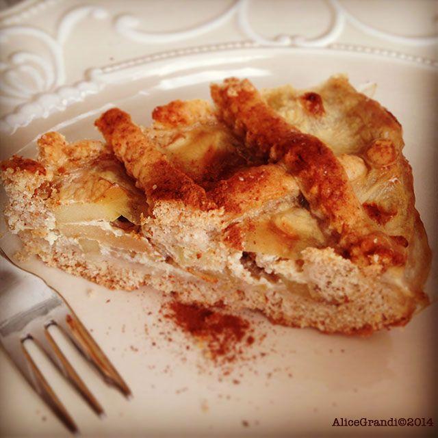 Crostata di mele alla creama di vaniglia | Ricetta di Ricettevegolose | #RisanaLa