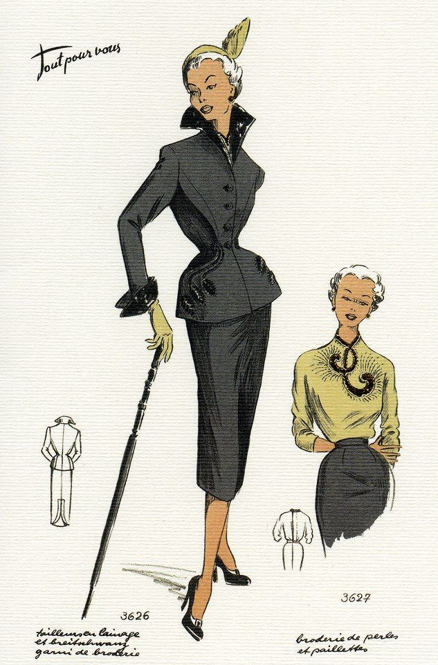 1950 S Fashion Illustrations Vintage Fashion Pinterest