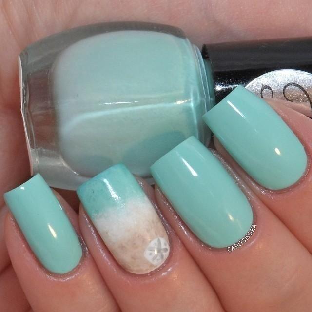 Babyblue Nail Design Idea