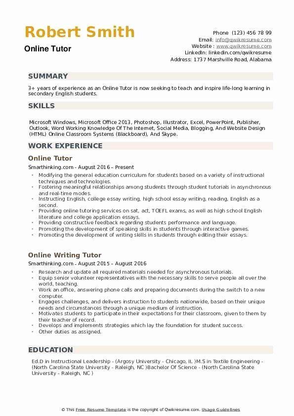 Tutor Resume No Experience New Line Tutor Resume Samples In 2020 Engineering Resume Templates Job Resume Samples Job Resume Examples