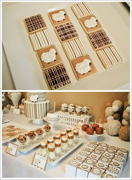 Little Lamb birthday party, but could probably be a really cute baby shower too